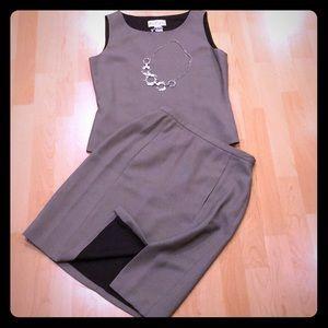 ANN CLANCY skirt suit, sleeveless, EUC, Size 6
